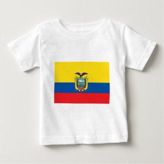 エクアドル- Bandera deエクアドルの旗 ベビーTシャツ