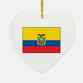 エクアドル- Ecuadorianの旗 セラミックオーナメント