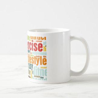 エクササイズのフィットネスのライフスタイル コーヒーマグカップ