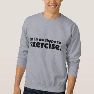 エクササイズのワイシャツ スウェットシャツ