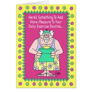 エクササイズの教祖のバースデー・カード カード