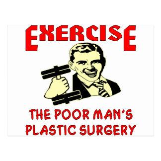 エクササイズの貧乏人の形成外科 ポストカード