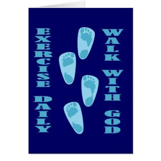 エクササイズ毎日の-神(マットの11:28 -が付いている歩行30) カード