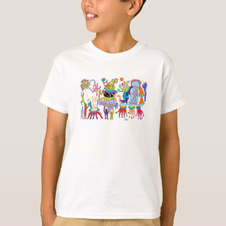 エクモチのかわいいタコの町シャツ Tシャツ