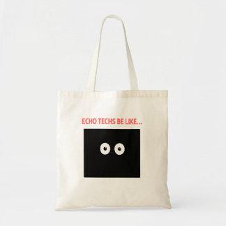 エコーの目はのように…あります トートバッグ
