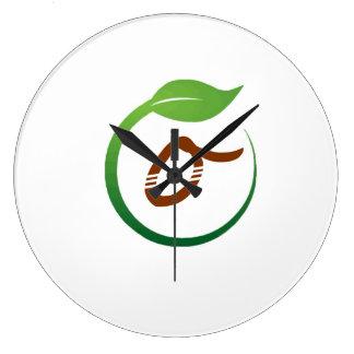 エコ緑のライフスタイルの時計 ラージ壁時計