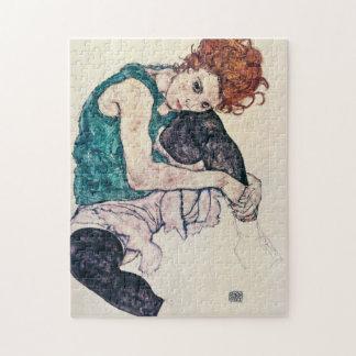 エゴンSchieleは女性のパズルをつけました ジグソーパズル