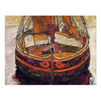 エゴンSchiele-トリエステの漁船 ポストカード