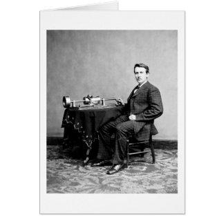エジソンおよび彼のレコードプレーヤー1887年 カード