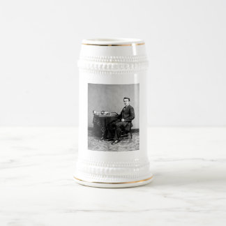エジソンおよび彼のレコードプレーヤー1887年 ビールジョッキ