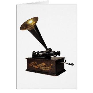 エジソンの家のレコードプレーヤー カード