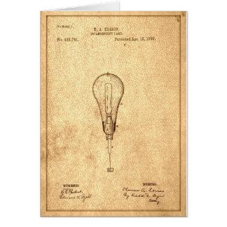 エジソンの球根のパテント カード