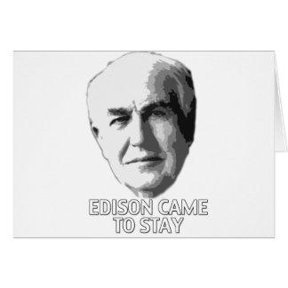 エジソンはとどまるために来ました カード