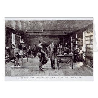 エジソン、著名な電気技師氏 カード
