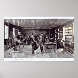 エジソン、著名な電気技師氏 ポスター
