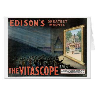 エジソンVitascope 1896の元通りにされたヴィンテージポスター カード