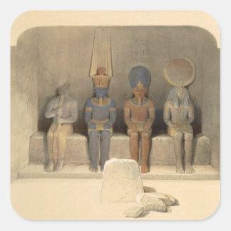 """""""エジプトからのAbu Simbelの寺院の聖域、 スクエアシール"""