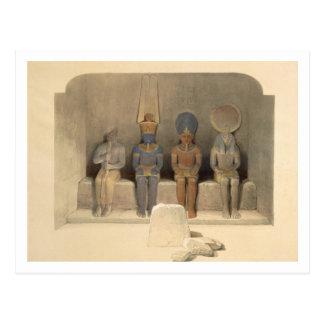 """""""エジプトからのAbu Simbelの寺院の聖域、 ポストカード"""