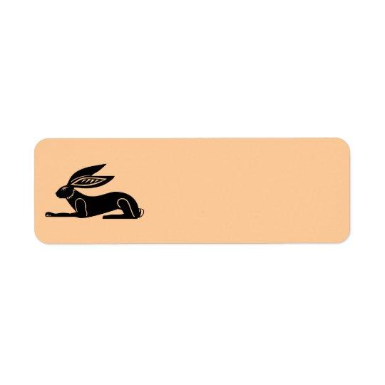 エジプトのウサギ 返信用宛名ラベル