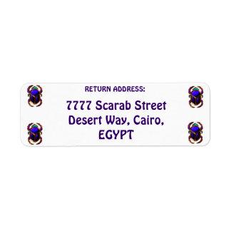 エジプトのオオタマオシコガネのカブトムシの差出人住所ラベル ラベル