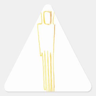 エジプトのガゼルの櫛 三角形シール