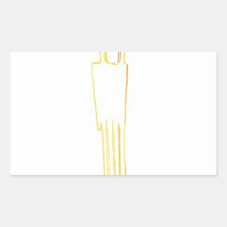 エジプトのガゼルの櫛 長方形シール