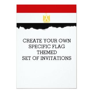 エジプトのクラシックな旗 カード