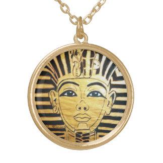 エジプトのスタイルの円形の金ゴールドの終わりのネックレス ゴールドプレートネックレス