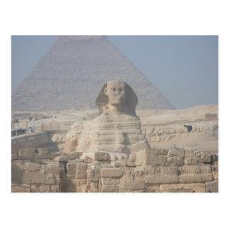 エジプトのスフィンクスそしてピラミッド ポストカード