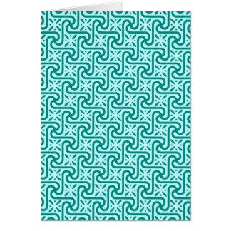 エジプトのタイルのパターン、ターコイズおよび水 カード