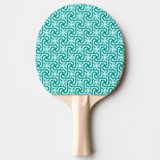 エジプトのタイルのパターン、ターコイズおよび水 卓球ラケット