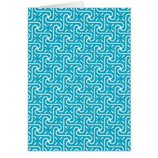 エジプトのタイルのパターン、ターコイズおよび白 カード
