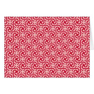 エジプトのタイルパターン、深く、淡いピンク カード