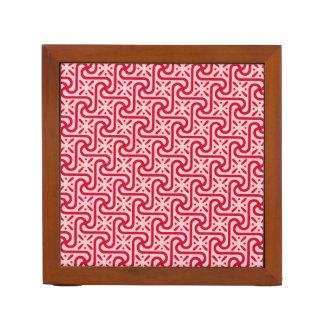 エジプトのタイルパターン、深く、淡いピンク ペンスタンド