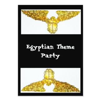 エジプトのテーマのパーティーのテンプレート5x7 カード