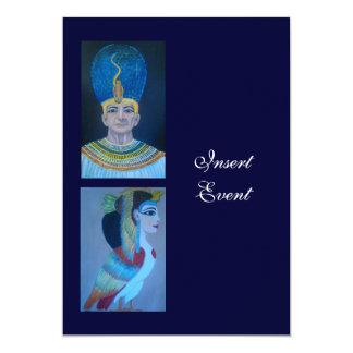 エジプトのテーマのパーティー5x7のテンプレート カード