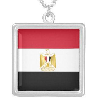 エジプトのネックレスの旗 シルバープレートネックレス