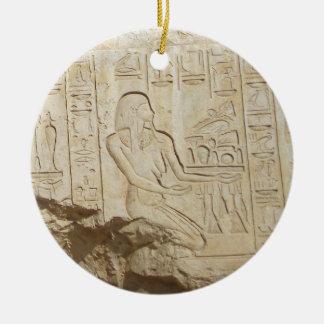 エジプトのヒエログリフのオーナメント セラミックオーナメント