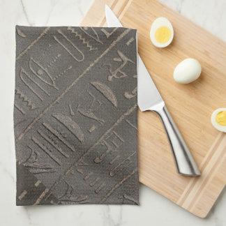 エジプトのヒエログリフの古代エジプトの執筆記号 キッチンタオル