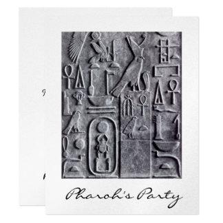 エジプトのヒエログリフのPharohのパーティの招待状 カード