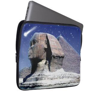 エジプトのピラミッドの芸術の袖上のスフィンクス及び彗星 ラップトップスリーブ