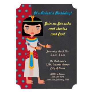 エジプトのファラオのダンスの誕生日のパーティの招待状 カード