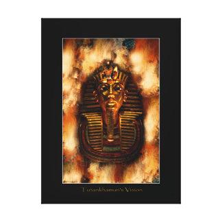 エジプトのファラオのTutankhamenの芸術の勉強II キャンバスプリント