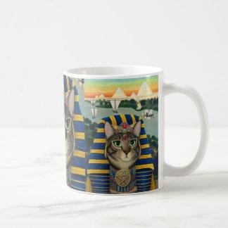 エジプトのファラオ猫のBastetエジプトの靭皮繊維の芸術のマグ コーヒーマグカップ