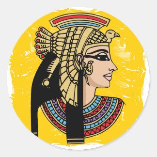 エジプトのファラオ ラウンドシール