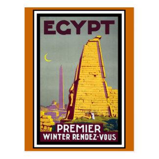 エジプトのヴィンテージ旅行 ポストカード