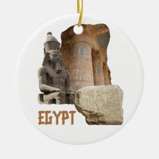 エジプトの写真のコラージュのオーナメント セラミックオーナメント