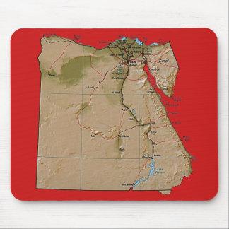 エジプトの地図のマウスパッド マウスパッド