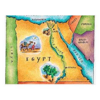 エジプトの地図 ポストカード