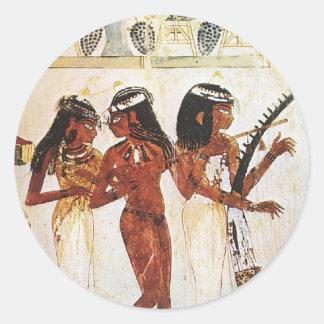 エジプトの女性のミュージシャン ラウンドシール